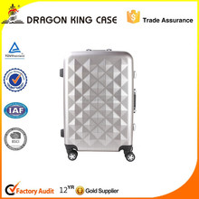 new style Diamand shape luggage set. aluminum frame luggage case
