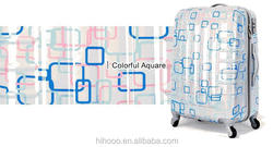 2015 Cheap Colorful ABS Printed Hard Shell Travel Luggage