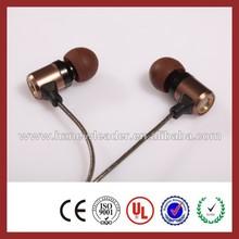 Mobile phone accessories factory in china metal bass earphone headphone