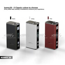 2015 new coming vapor cigarette wholesale kamry30 box mod 510 battery variable voltage mod