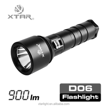 XTAR Diving Series cr ee xm l2 u2 23500cd 306m beam throw 900lm led diving torch light D06 with oem/odm service