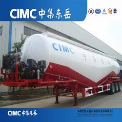 Include Air compressor high quality 55m3 bulk cement tanker / dry powder tank semi trailer