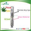 USA Hot mental glass cartridge Disposable empty vape wax oil e cigarette refill cartridge
