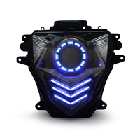 Custom Headlight Assembly LED HID Projector Bulb For Motorcycle GSXR600 2011-2015