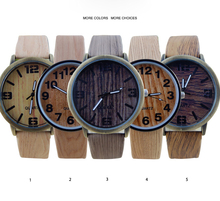 Hot sale unique design wood looking style man wrist watch