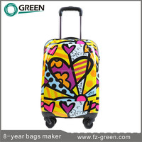 2015 Full Printing Children Travel Trolley Luggage Bag