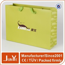 Eco-friendly printed promotional fancy recycle package paper bag