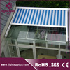 aluminum pergola canopy roof awning system,electric glass green house top roof awning,outdoor conservatory canopy roof awning