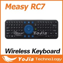 Original Measy RC7 Smart Remote 2.4GHz USB Wireless Keyboard Gyroscope Air Fly Mouse for Mini PC Android TV Box Mini Keyboard