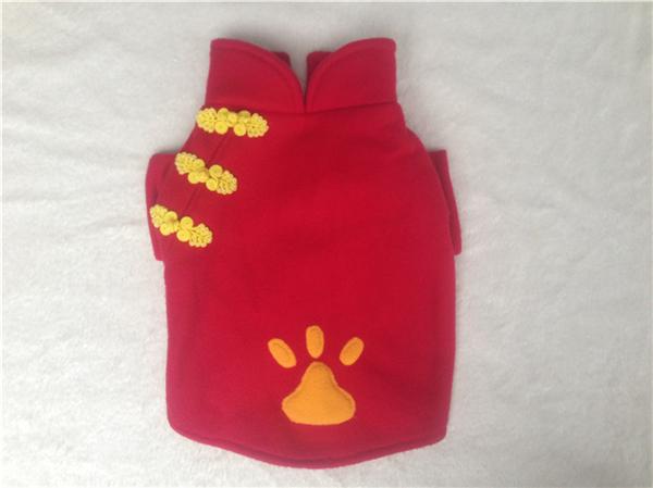 Casaco vermelho do vestido de casamento tradicional chinês para o cão
