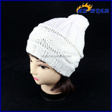 HZM-14199002 Pure white ball girls lovely and beautiful cotton bucket fashion hat