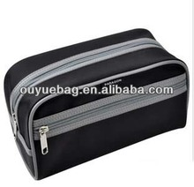High quality personalized 210D nylon men black cosmetic bags