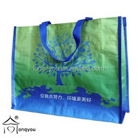eco friendly laminated PP woven shopping plastic tote bag