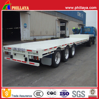 High quality 3 axles 40ft flatbed semi trailer,used 3axle trailer used for transfering 20ft/40ft container