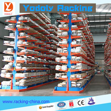 Alibaba China heavy duty high quality double arms cantilever racks for warehouse long bar storage