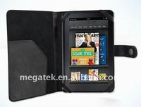 Super slim Folio Leather case for Amazon Kindle fire,for amazon kindle fire case leather