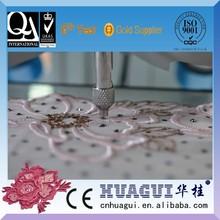 HUAGUI 6 head tajima embroidery machine crystal stone work saree