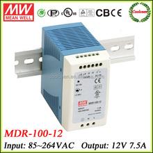 Meanwell MDR-100-12 12v 7.5a din rail power supply 90w