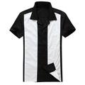 rockabilly hombre camisa de manga corta estilo retro vintage 1950s bowling tattoo ropa 1940s swing fiesta rock n roll dropship