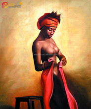 Wall decoration modern indian nude art oil painting
