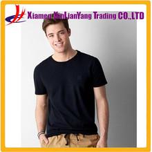 Custom wholesale Men T-Shirt Black brand t-shirt slim T shirt adult t-shirts 5XL