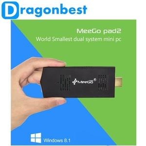 Meistverkaufte mini-pc meegopad t02 dual os win8 oder Ubuntu Update win10 Quad-Core intel atom z3735f intelligente mini-pc