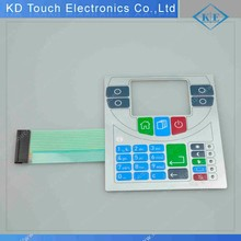 DIY Small PILLOW EMBOSSING keys Membrane Switch with 3m Adhesive and AMP Housing