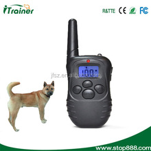 Remote Dog Training Shock Collar Trainer / Rechargeable Dog Collar for No Bark Obedience Behavioral Training