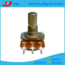 jiangsu 16mm mono single unit rotary types of carbon potentiometer without switch