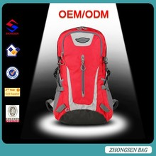 Hot sell made in china climbing backpacks bag 35L capacity nylon climbing backpacks