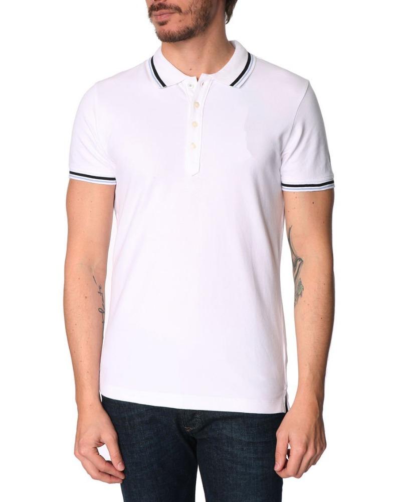 Custom Fashion Men Plain White Polo Golf Shirts Design