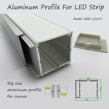 la puissance élevée led encastré en aluminium profil de grande taille slideable avec opal mat pmma diffuseur pour couvrir led bande de lumière