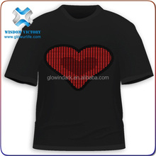 christmas Three person T-shirts(red),led t shirt wholesale