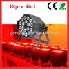 CE RoHS Certificated 18pcs 10w Par Light / IP65 Led Par