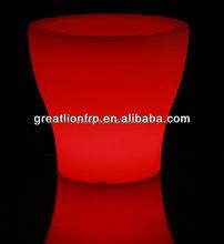 GR0840 Recyclable rotational light up flower pot, garden planter, led lighting plastic planter