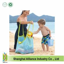 Mesh Beach Bag Child Toys Storage Towels Sand Away Large Family Ball Bag