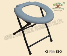 Powder Coated Steel Folding Invalid Commode Chair