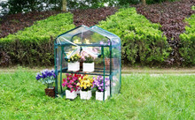 2 tier Greenhouse with PVC cover for flower and plant