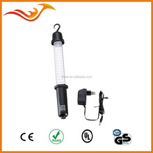 60 LED rechargeable car work light LED 12V with car charging plug and hook