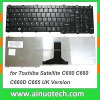 US Laptop Keyboard for Toshiba Satellite C650 C660 C660D C665 UK Laptop