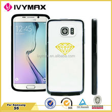 Clear Hard Back PC Colorful TPU Bumper New Cover Case For Samsung Galaxy S6