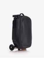 PC/EVA luggage abs+pc trolley bag/luggage scooter with 3 wheels