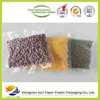 custom resealable plastic vacuum packaging bag for grain