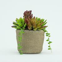 Wholesale Handmade Artificial Plants Succulent Antique European Home Decor
