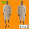 disposable nonwoven lab coat with knitted cuffs