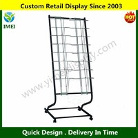 Customize Metal Roll Up rack display stand for magazine book