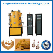 14kt yellow gold plated rings/earrings/pendants gold plating machine/golden rose color ion plating machine