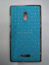 Full Star Diamond Electroplated Back Plastic phone case for nokia xl
