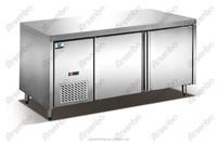 stainless steel fridge/ compressor kitchen worktable refrigerator/worktable refrigerator