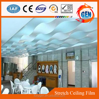 factory direct selling good quality interior ceiling decorative pvc stretch glossy ceiling film